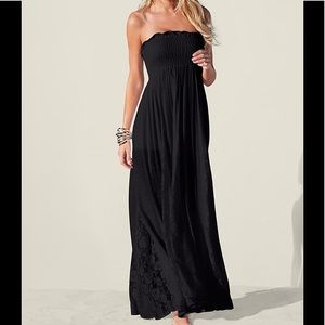 Ladies Long Black Maxi Dress